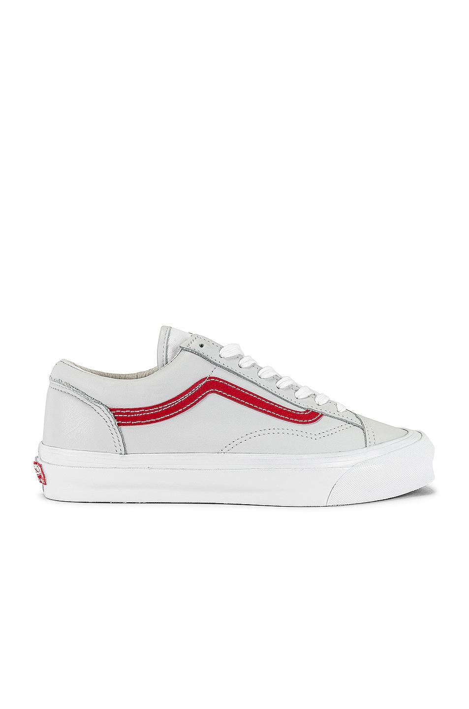 Image 1 of Vans Vault OG Style 36 LX in Red & True White