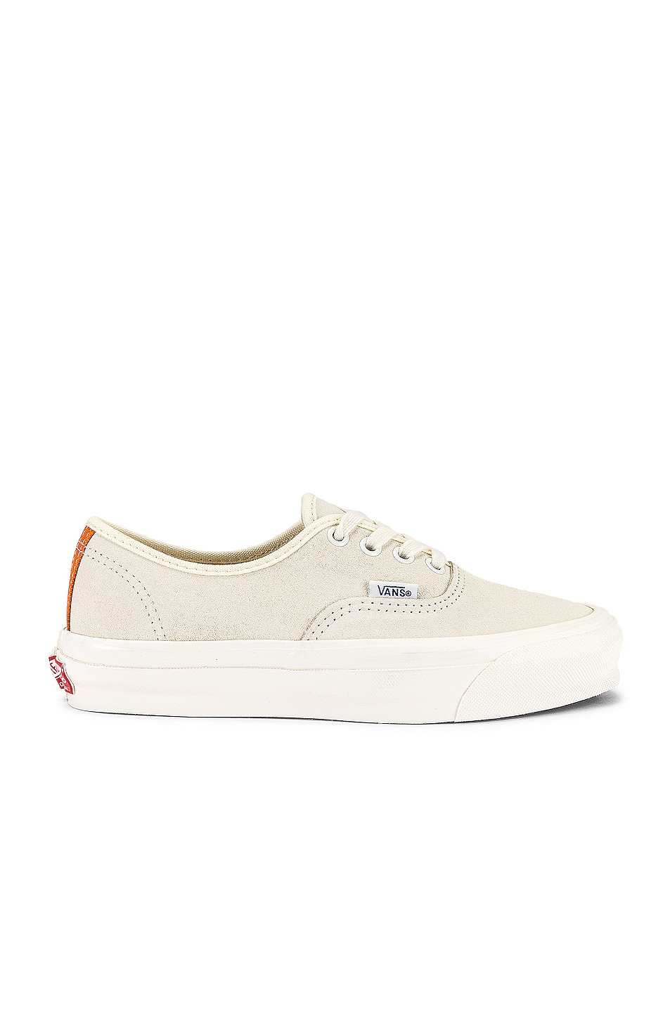 Image 1 of Vans Vault OG Authentic LX in Antique White & Persimmon Orange