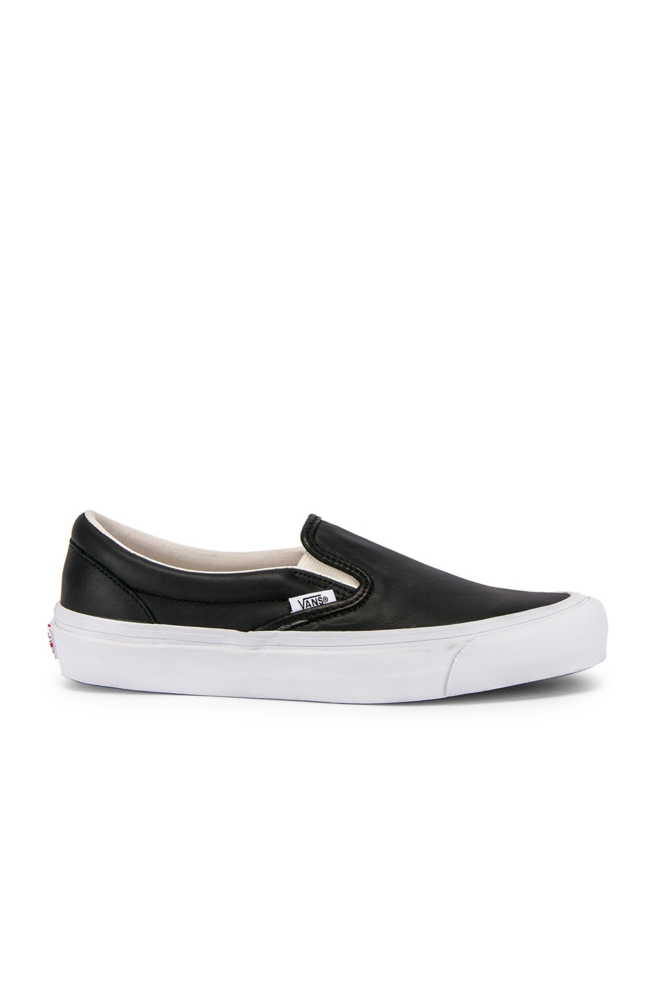 Image 2 of Vans Vault OG Classic Slip-On LX in Black
