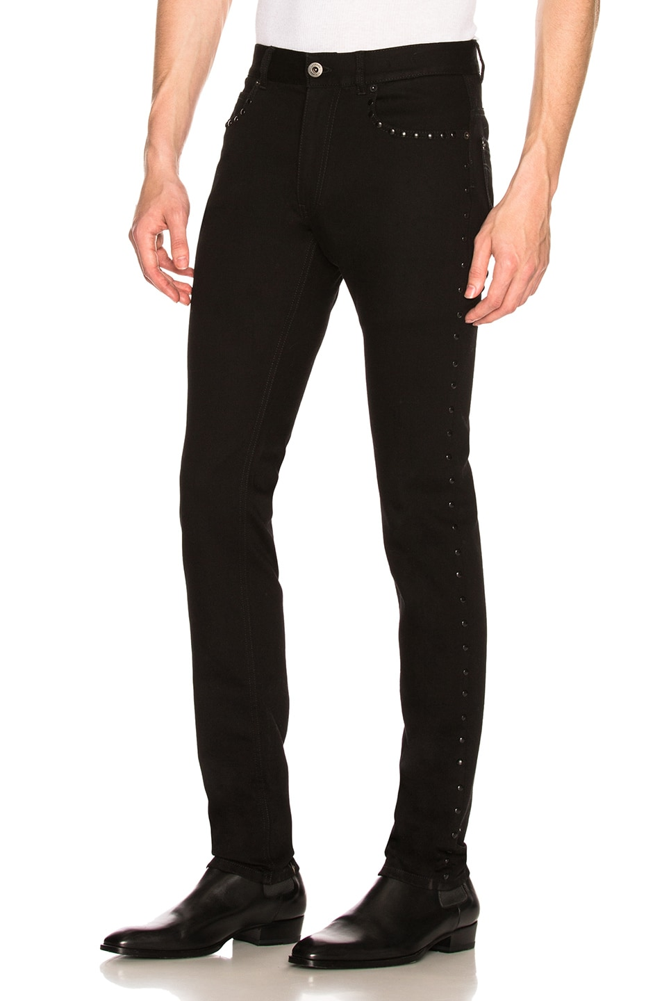 Image 1 of VERSACE Studded Jeans in Black