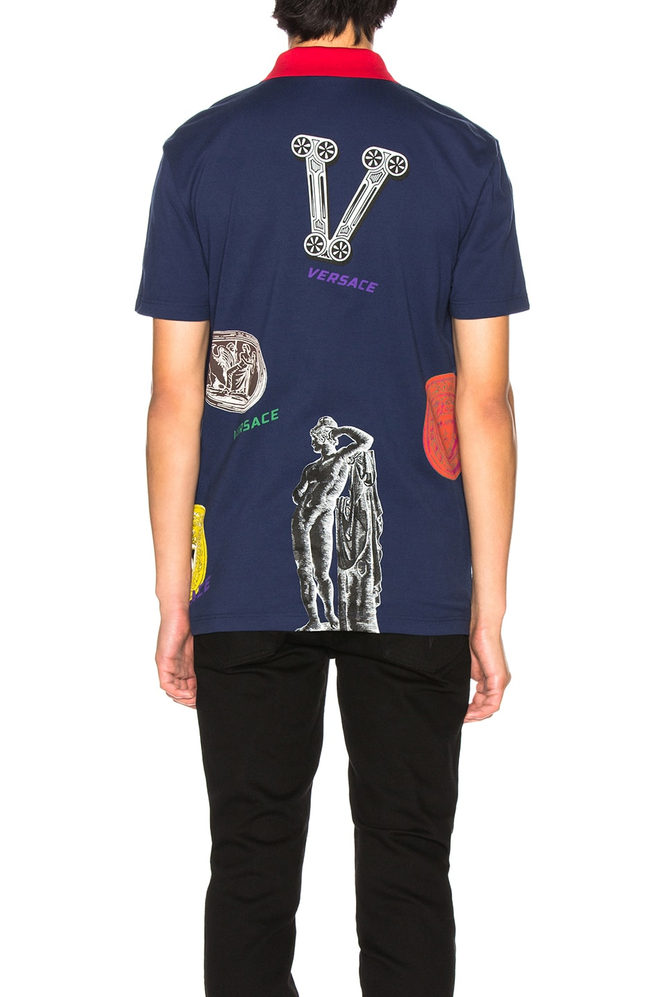 Image 3 of VERSACE Polo in Blue
