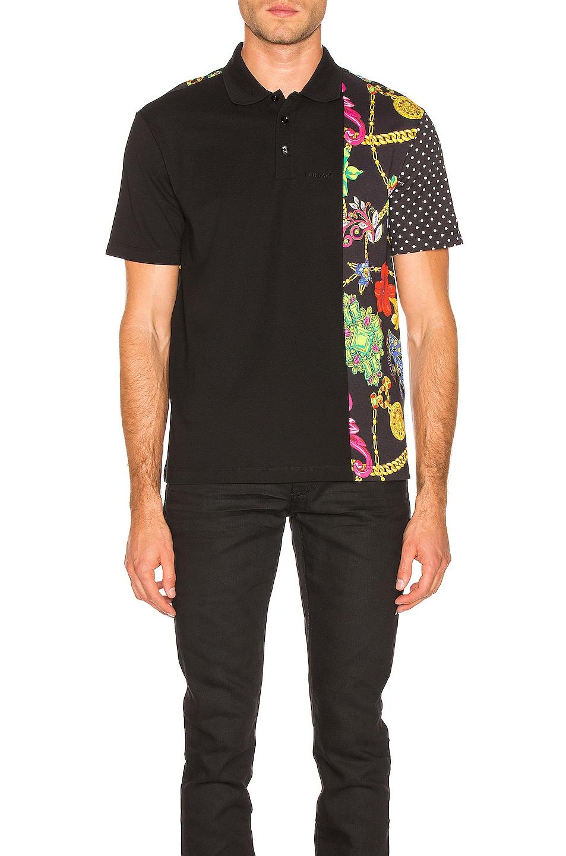 Image 1 of VERSACE Printed Shirt in Black & Multi