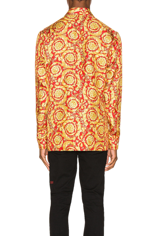 Image 3 of VERSACE Printed Silk Shirt in Red