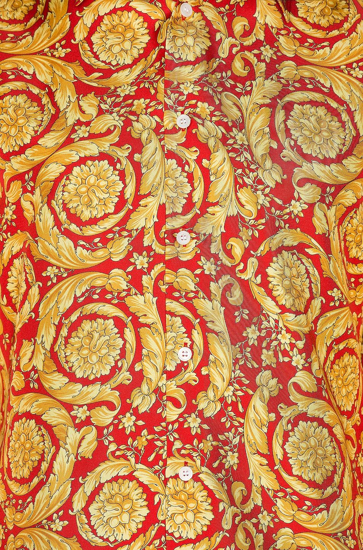 Image 5 of VERSACE Printed Silk Shirt in Red