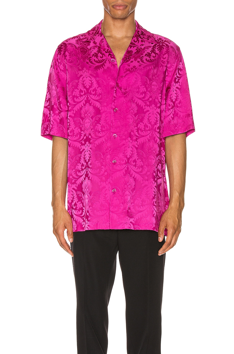 Image 1 of VERSACE Button Up in Fuchsia