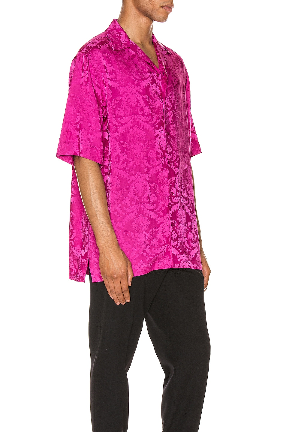 Image 2 of VERSACE Button Up in Fuchsia