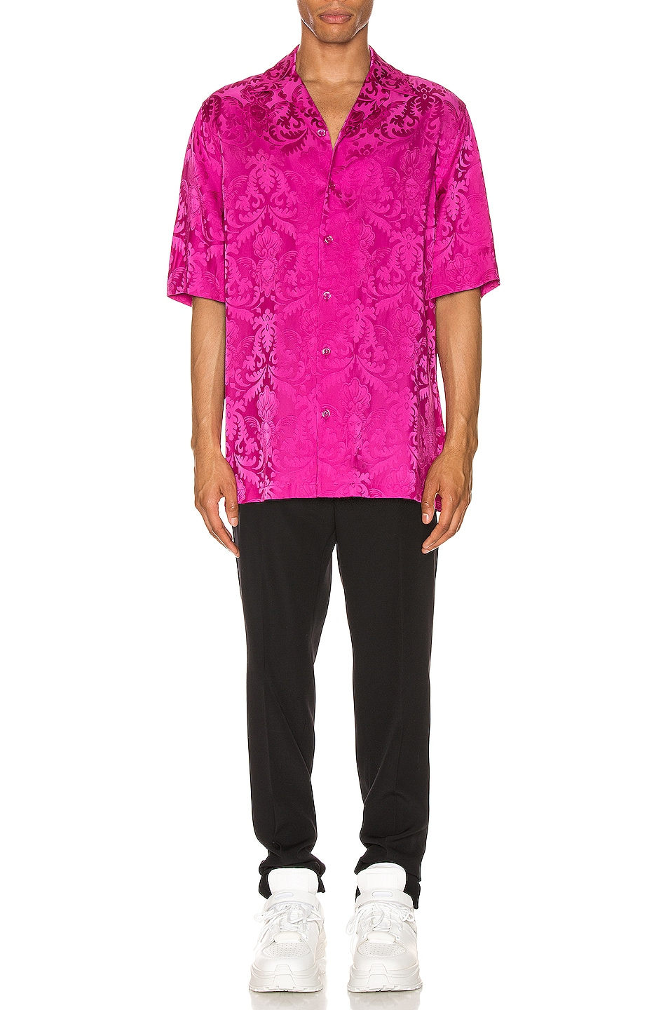 Image 4 of VERSACE Button Up in Fuchsia
