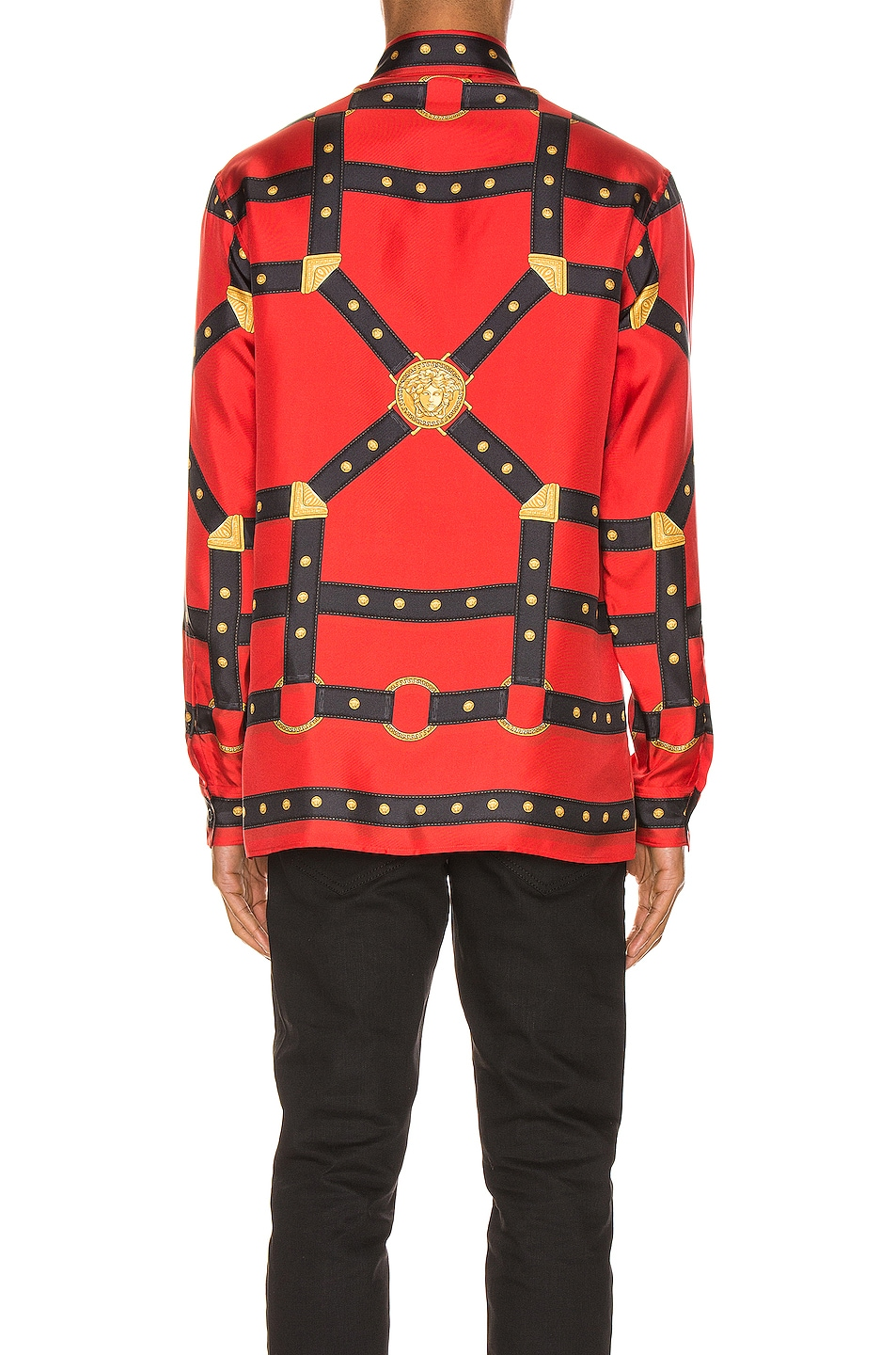 Image 3 of VERSACE Printed Long Sleeve Shirt in Red