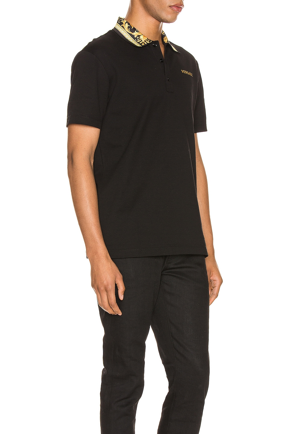 Image 2 of VERSACE Polo in Black & Gold