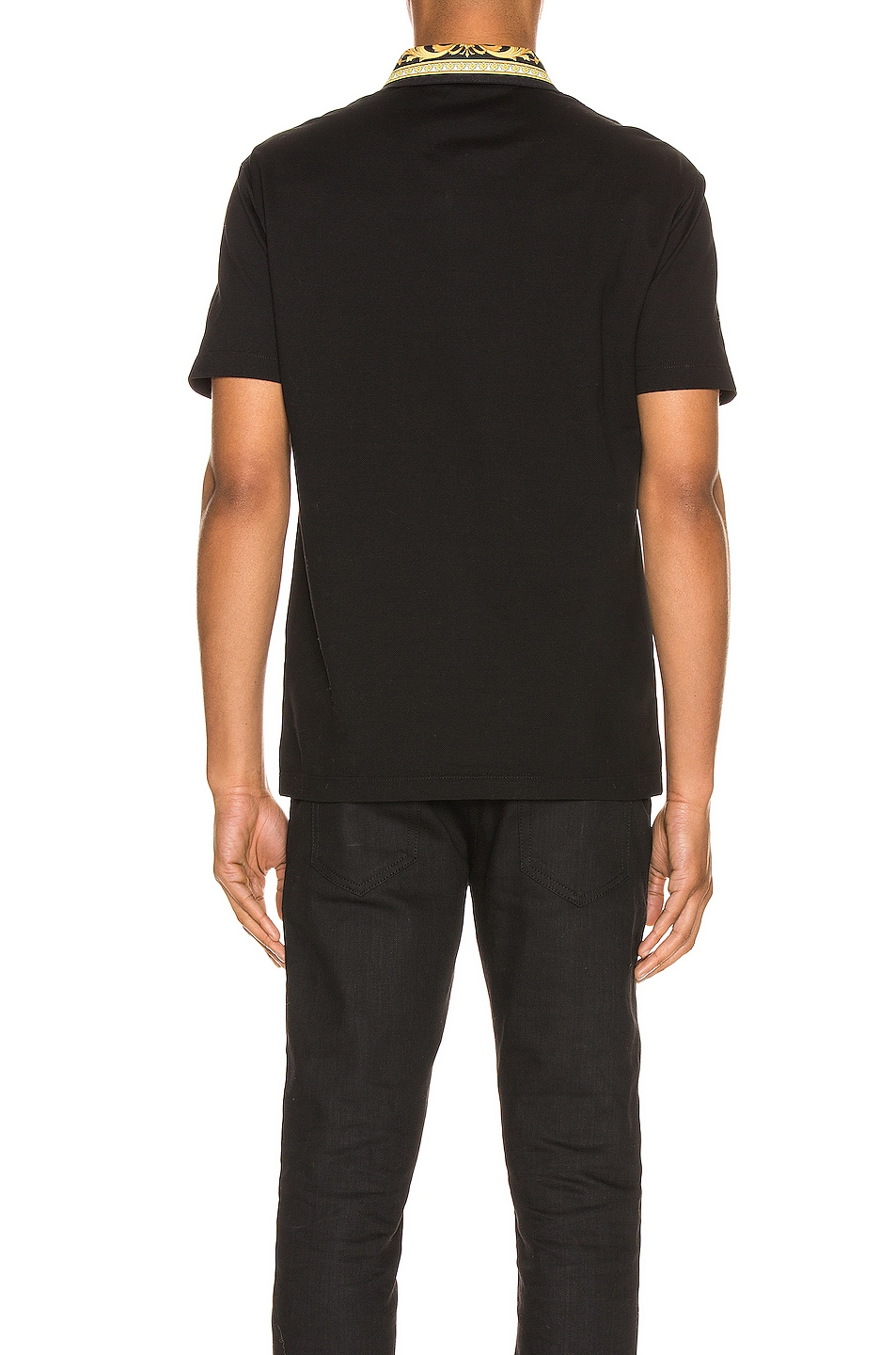 Image 3 of VERSACE Polo in Black & Gold