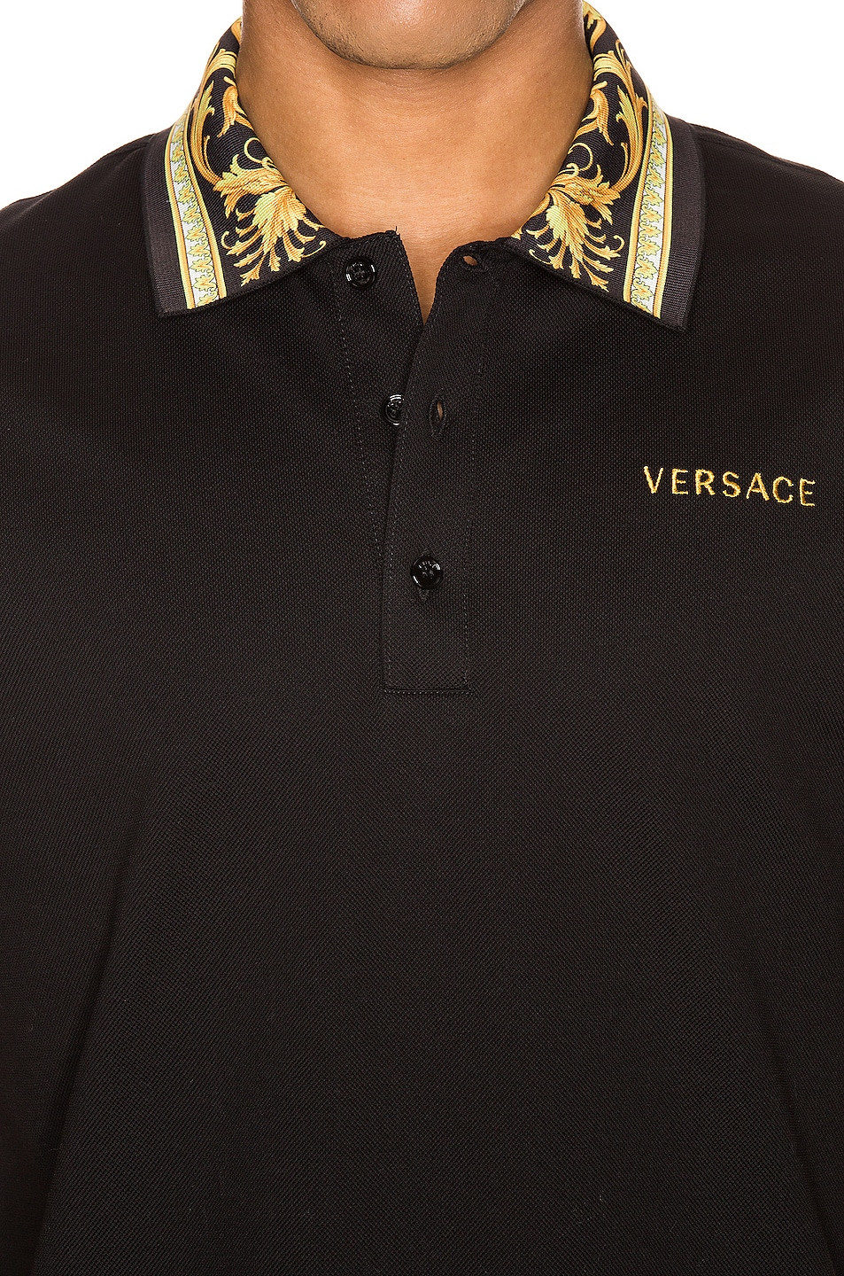 Image 5 of VERSACE Polo in Black & Gold