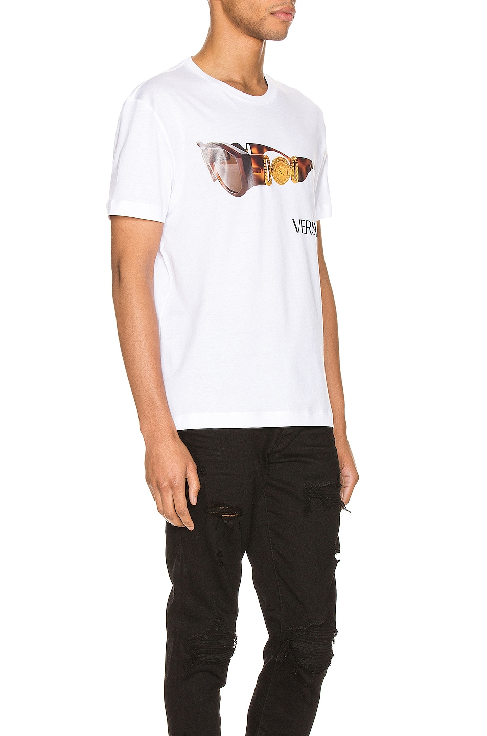 Image 2 of VERSACE Graphic Tee in Optical White