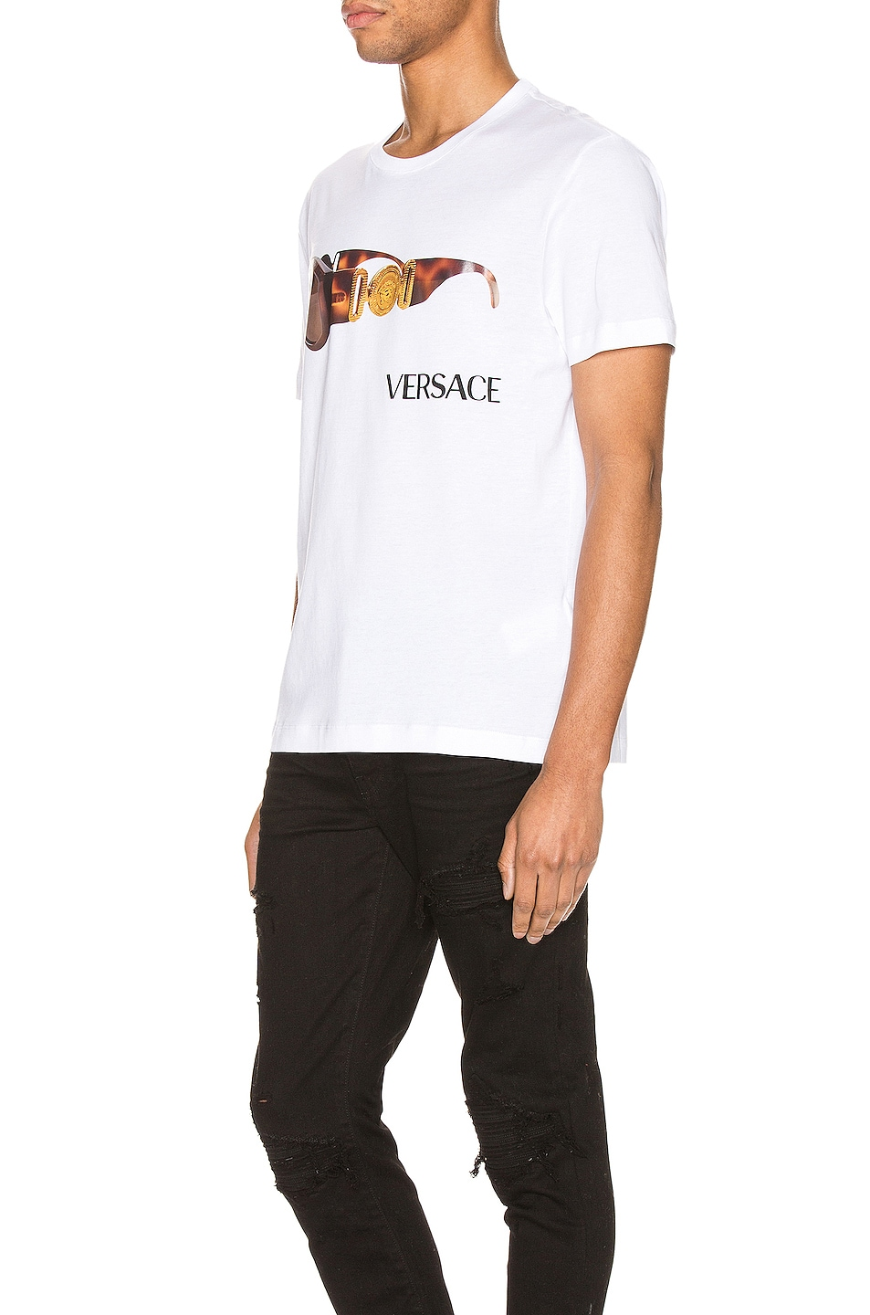 Image 3 of VERSACE Graphic Tee in Optical White