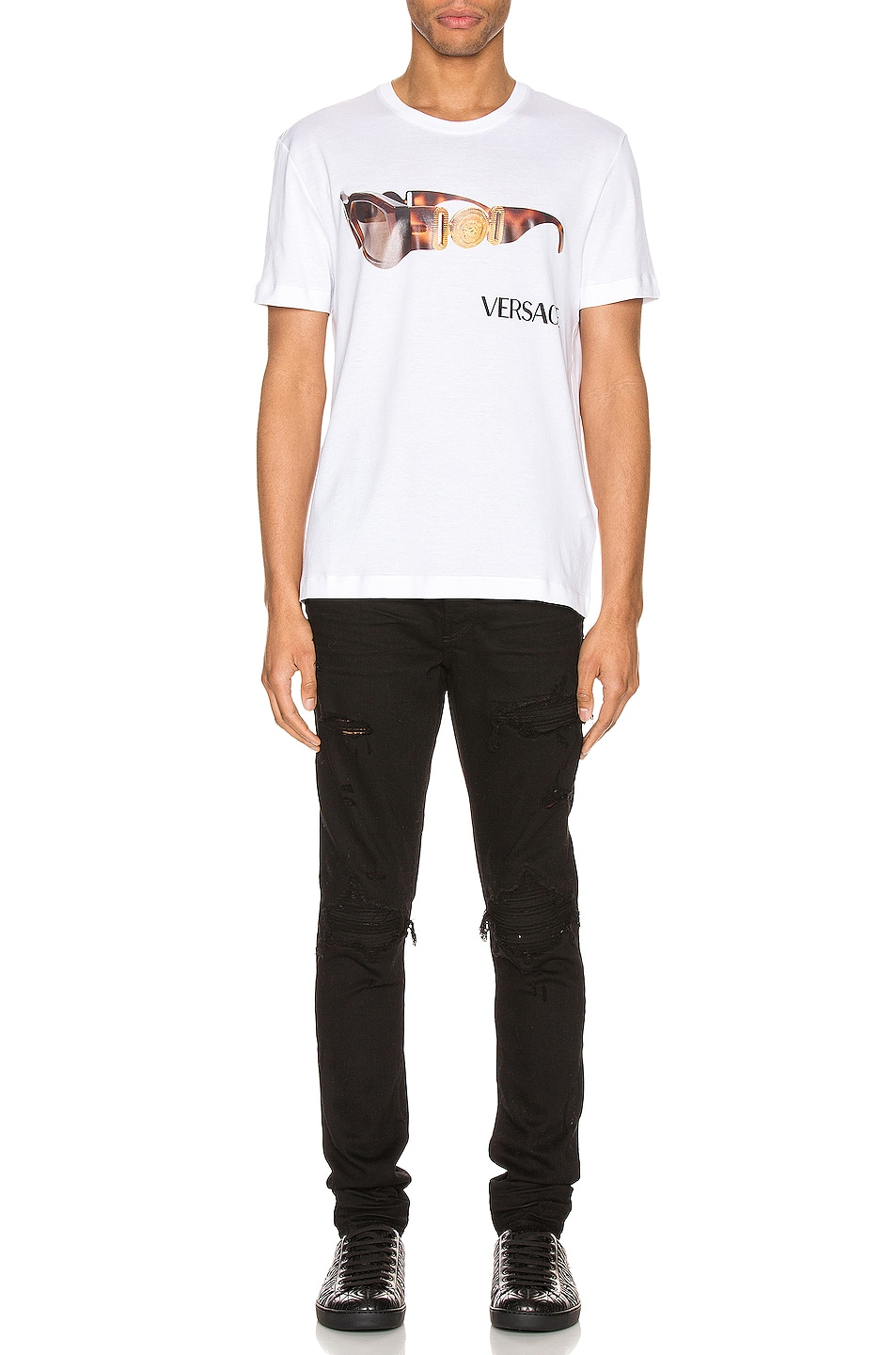 Image 5 of VERSACE Graphic Tee in Optical White