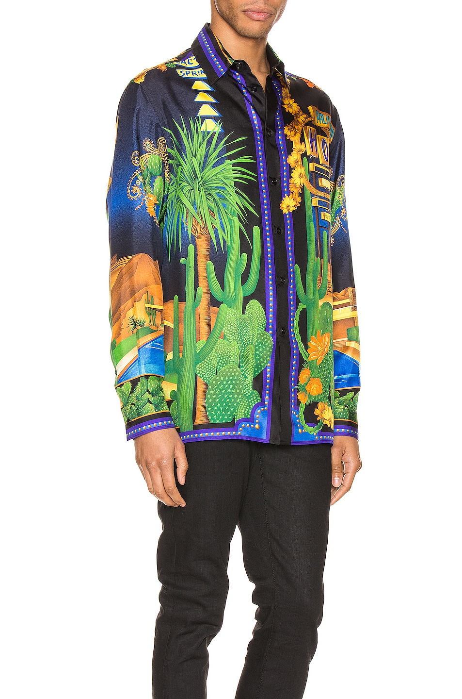 Image 2 of VERSACE Long Sleeve Shirt in Blue Print