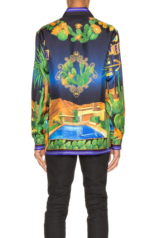 Image 4 of VERSACE Long Sleeve Shirt in Blue Print