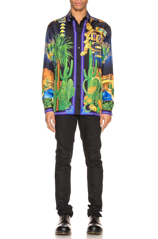 Image 5 of VERSACE Long Sleeve Shirt in Blue Print