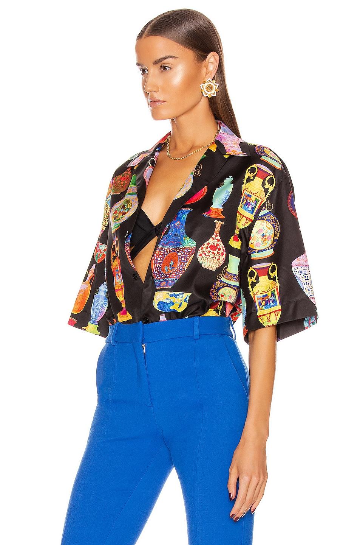 Image 3 of VERSACE Short Sleeve Print Shirt in Black & Multi