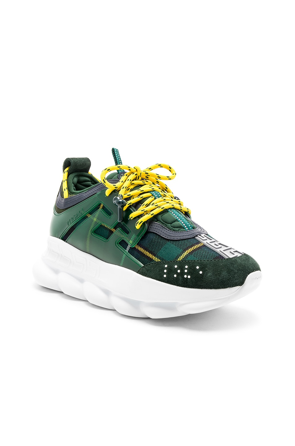 2962a7aa96 VERSACE Chain Reaction Sneakers in Green   FWRD