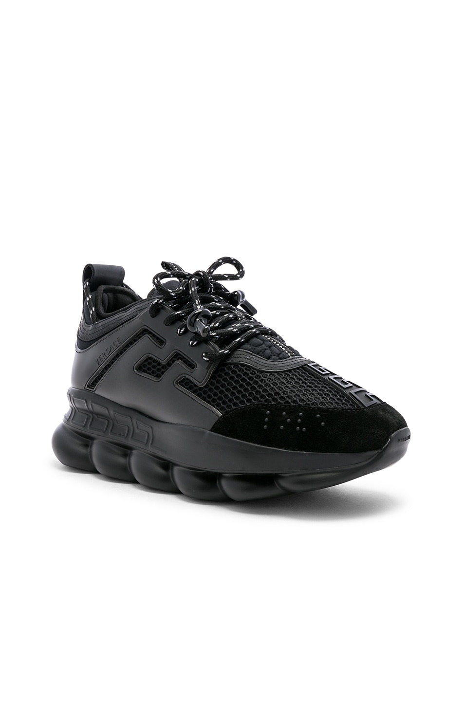 Image 1 of VERSACE Chain Reaction Sneakers in Black