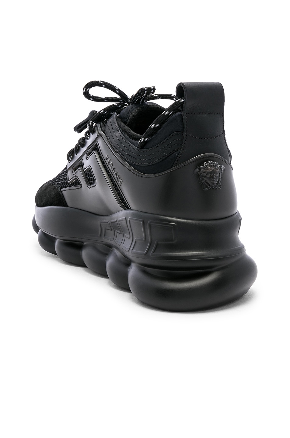 Image 3 of VERSACE Chain Reaction Sneakers in Black