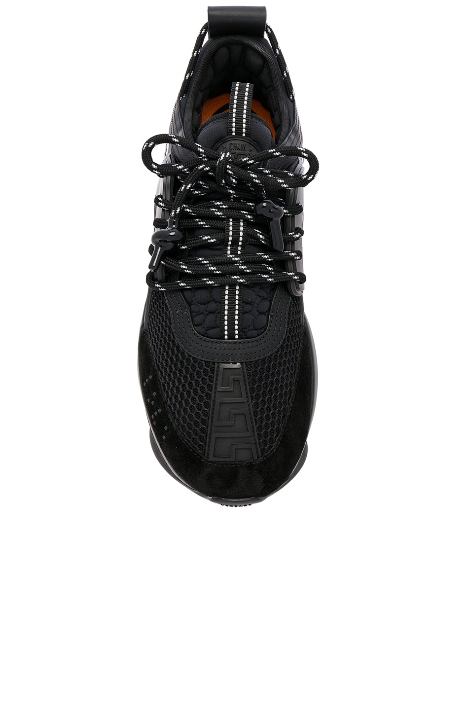 Image 4 of VERSACE Chain Reaction Sneakers in Black