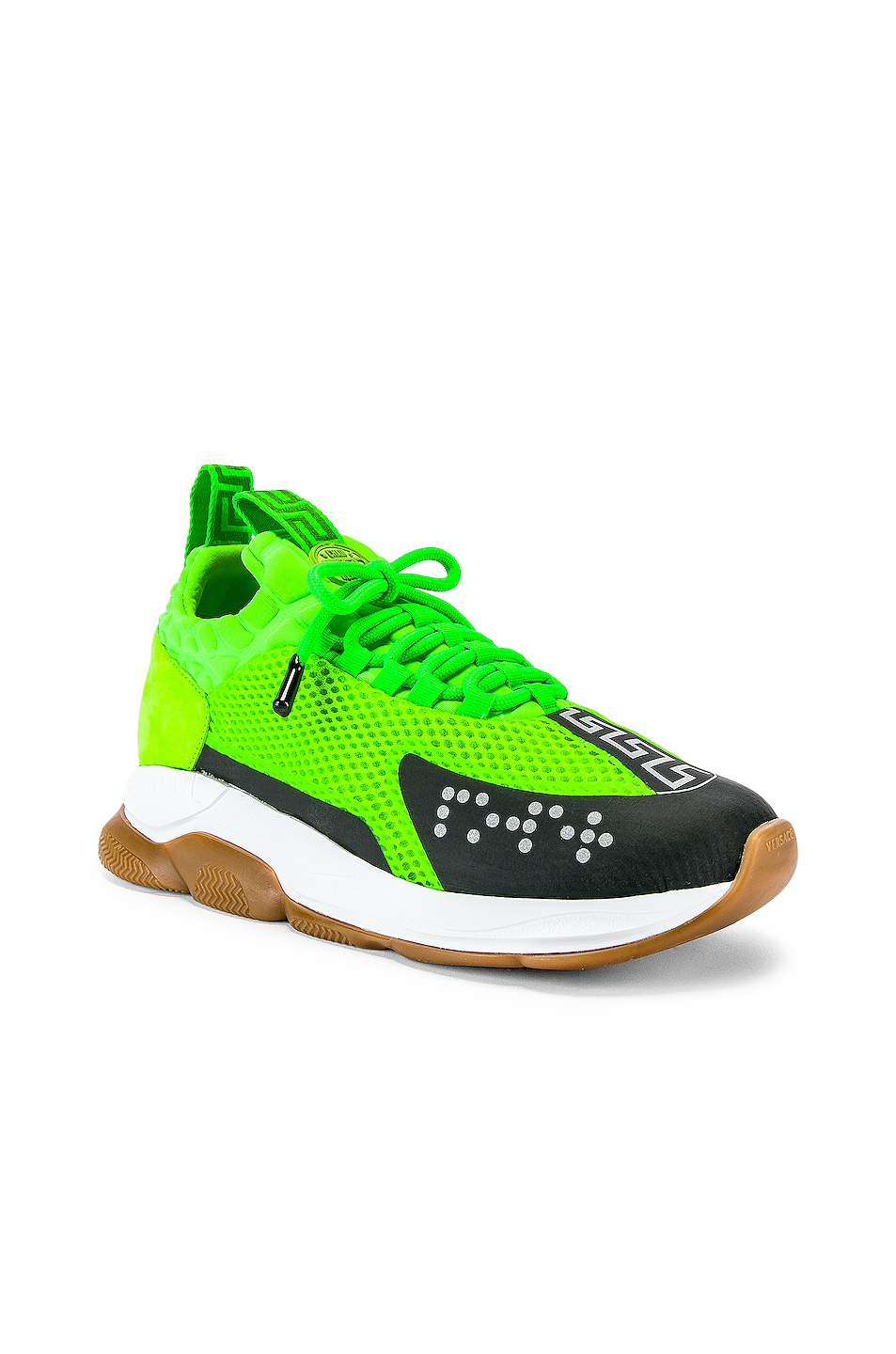 Image 1 of VERSACE Sport Sneakers in Lime & Black