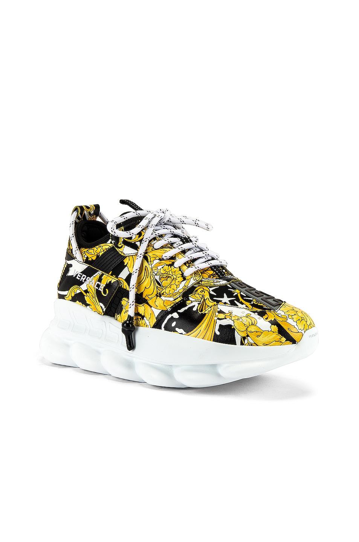 Image 1 of VERSACE Sneaker in Black & Gold