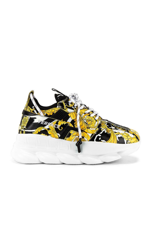 Image 2 of VERSACE Sneaker in Black & Gold