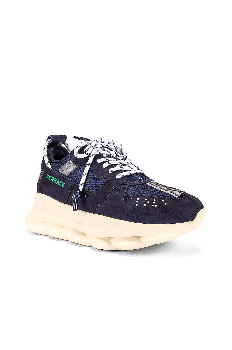 Image 1 of VERSACE Chain Reaction Sneaker in Navy