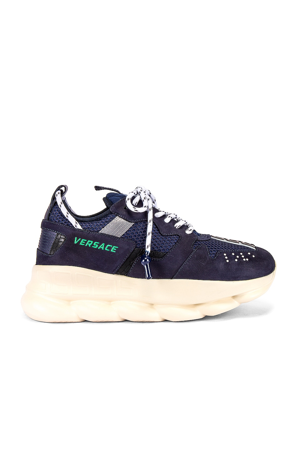Image 2 of VERSACE Chain Reaction Sneaker in Navy