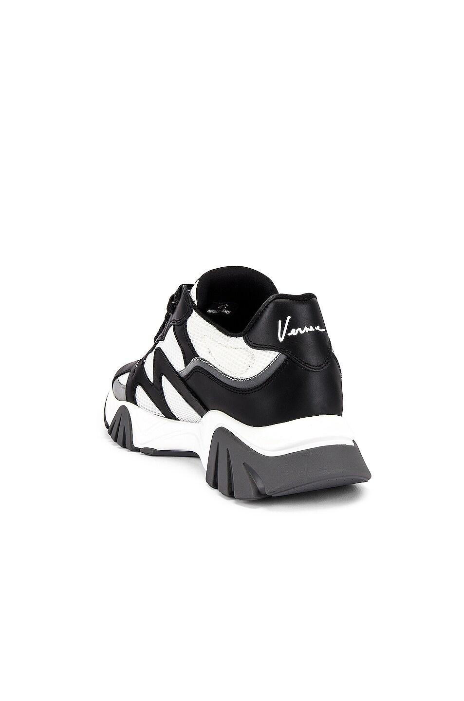 Image 3 of VERSACE Sneaker in Black & White & Silver