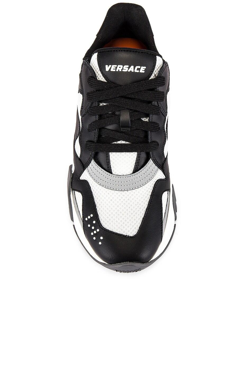 Image 4 of VERSACE Sneaker in Black & White & Silver