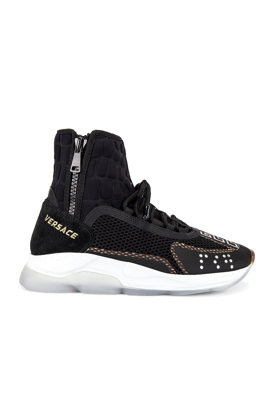 Image 2 of VERSACE Chain Reaction High Top Sneaker in Black