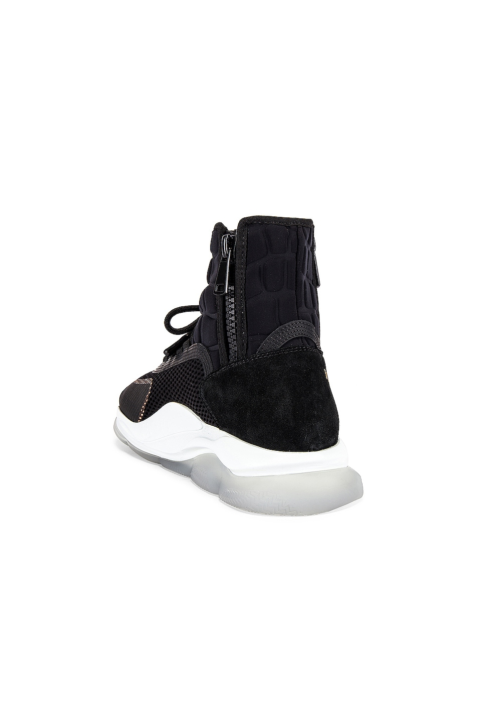 Image 3 of VERSACE Chain Reaction High Top Sneaker in Black