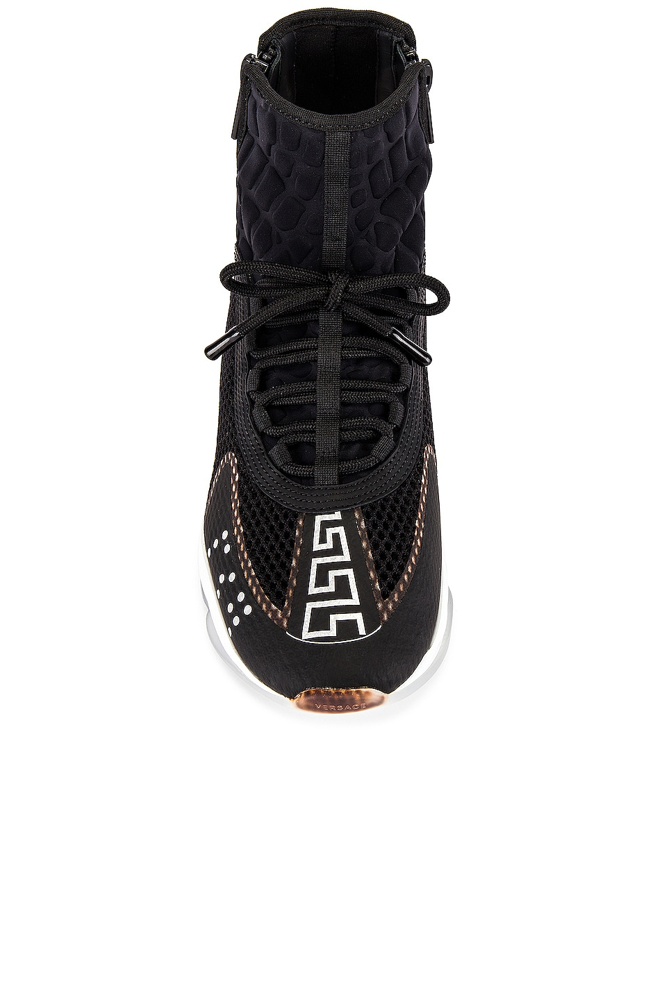 Image 4 of VERSACE Chain Reaction High Top Sneaker in Black