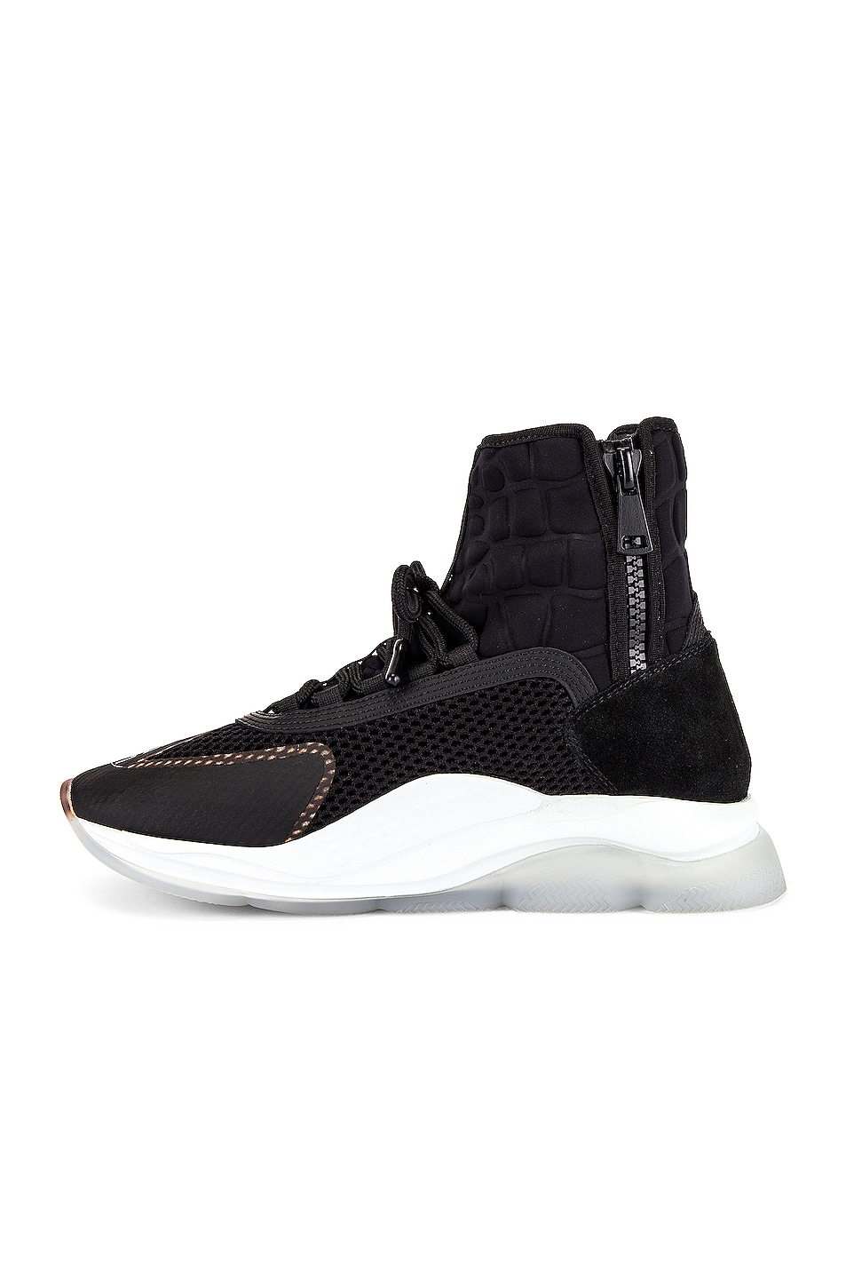 Image 5 of VERSACE Chain Reaction High Top Sneaker in Black