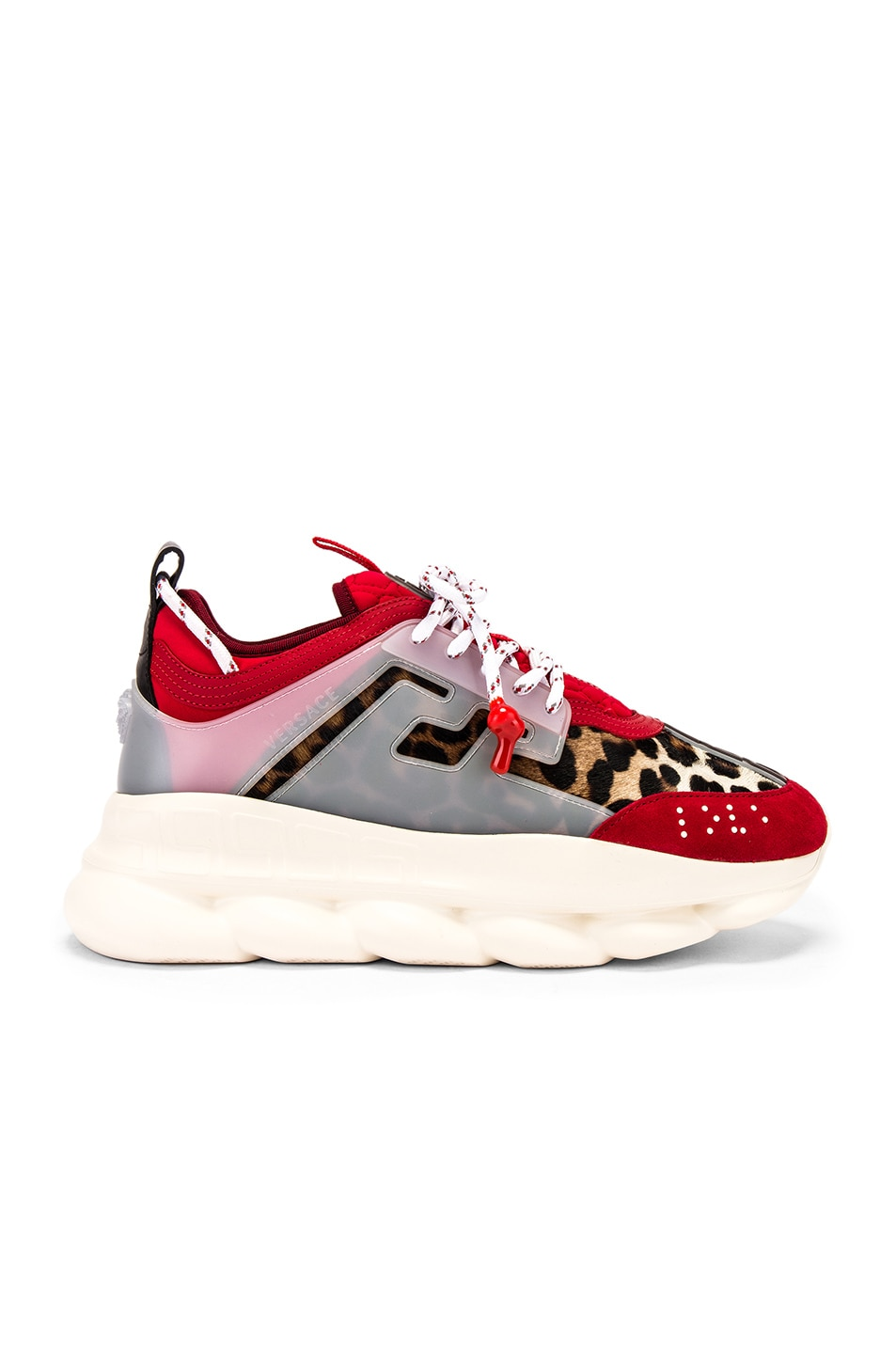 Image 2 of VERSACE Chain Reaction Sneaker in Red