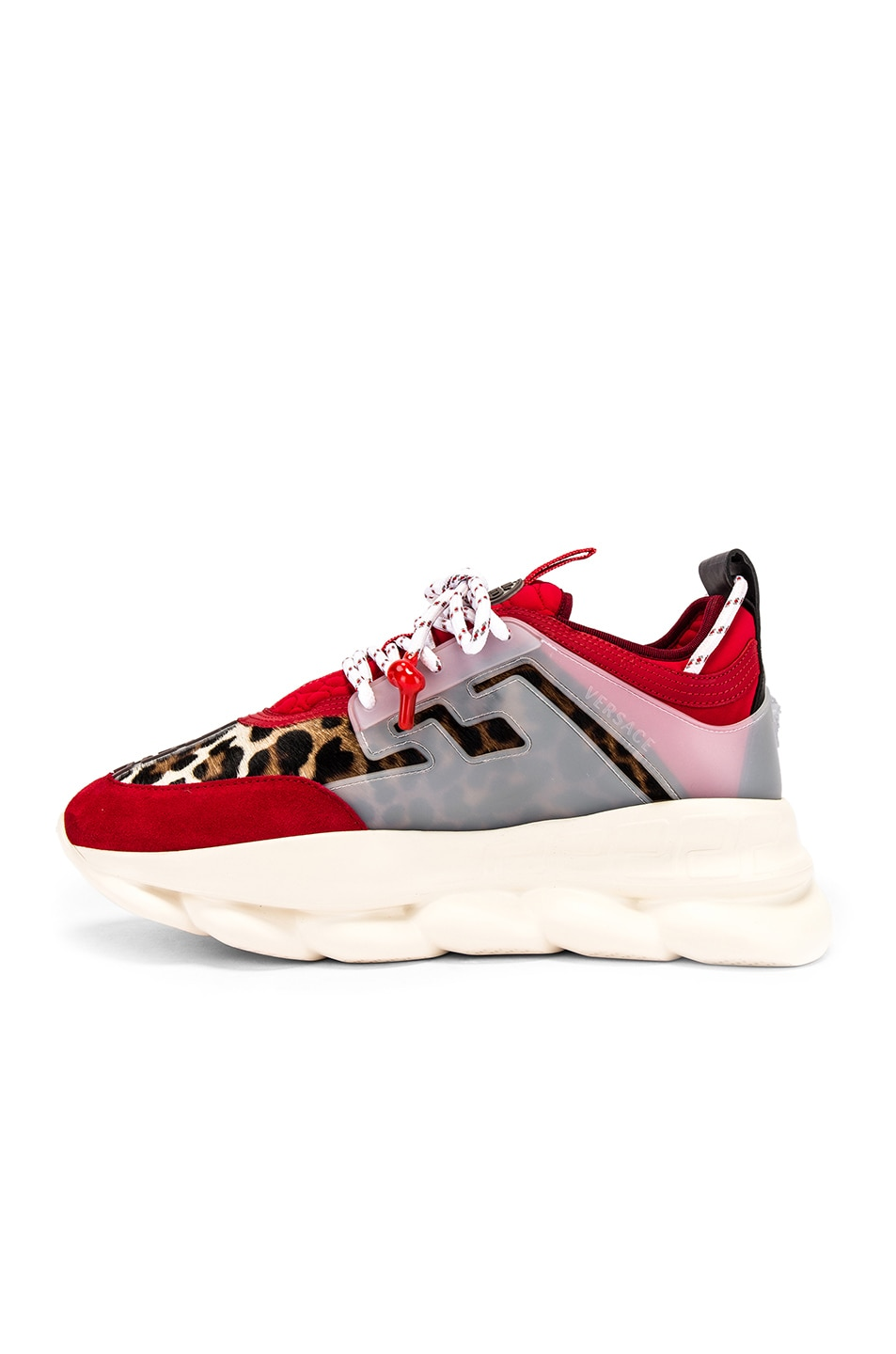 Image 5 of VERSACE Chain Reaction Sneaker in Red