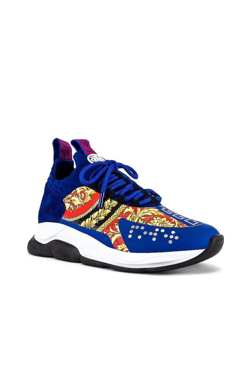 Image 1 of VERSACE Sport Sneaker in Blue & Multi