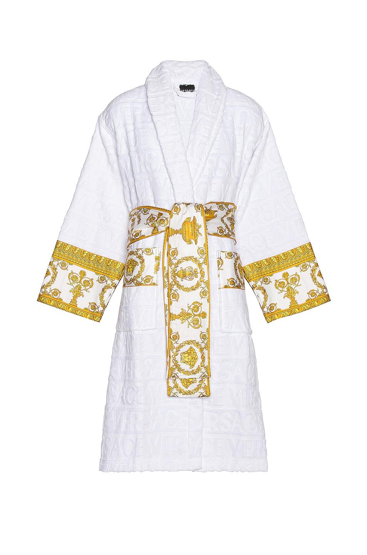 Image 1 of VERSACE Barocco Bath Robe in White