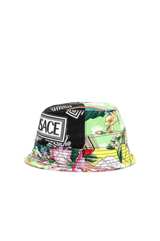 Image 4 of VERSACE Logo Print Bucket Hat in Multi