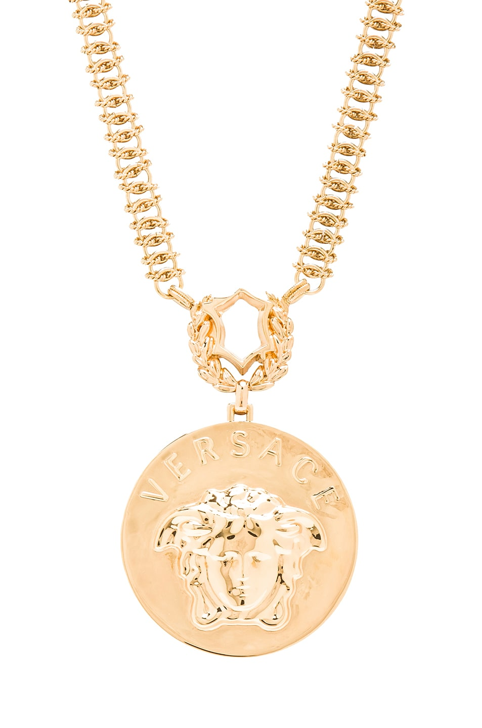 Image 1 of VERSACE Medusa Necklace in Gold