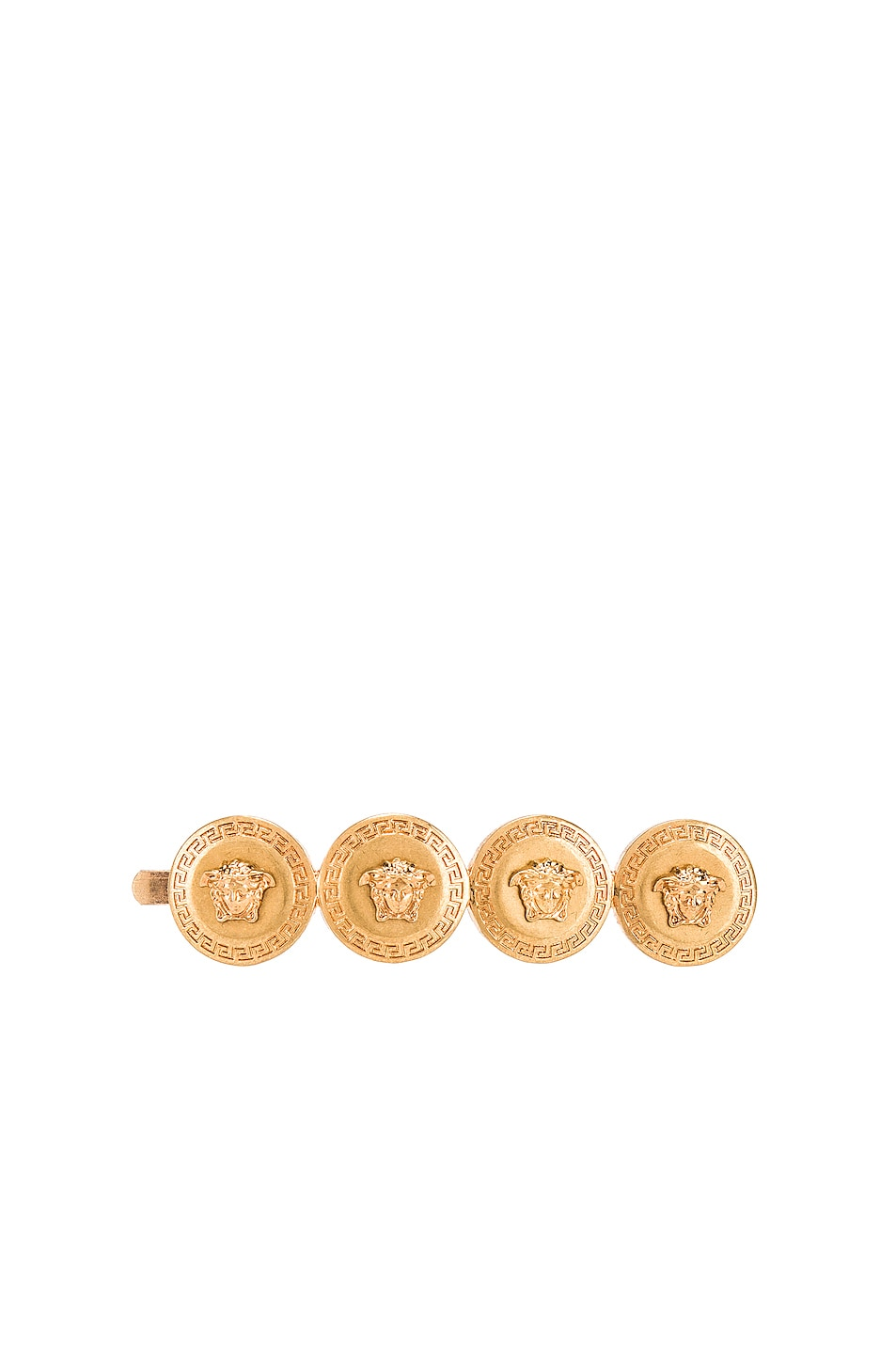 Image 1 of VERSACE Logo Hair Clip in Gold