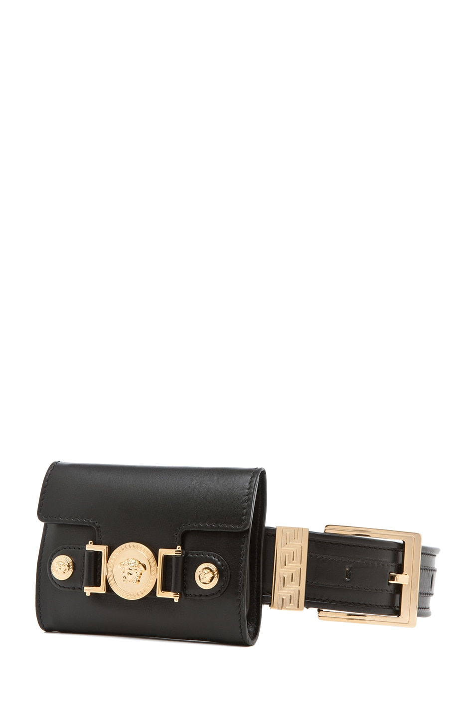 Image 1 of VERSACE Belt with Pouch in Black