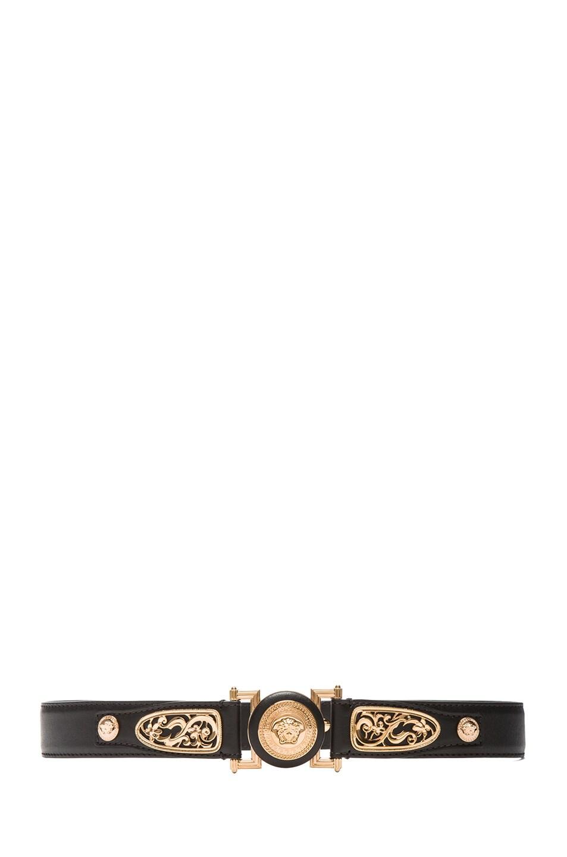 Image 1 of VERSACE Western Medusa Belt in Black