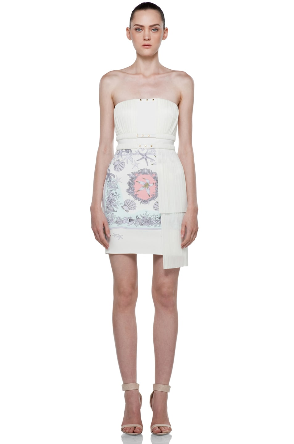 Image 1 of VERSACE Strapless Mermaid Dress in White