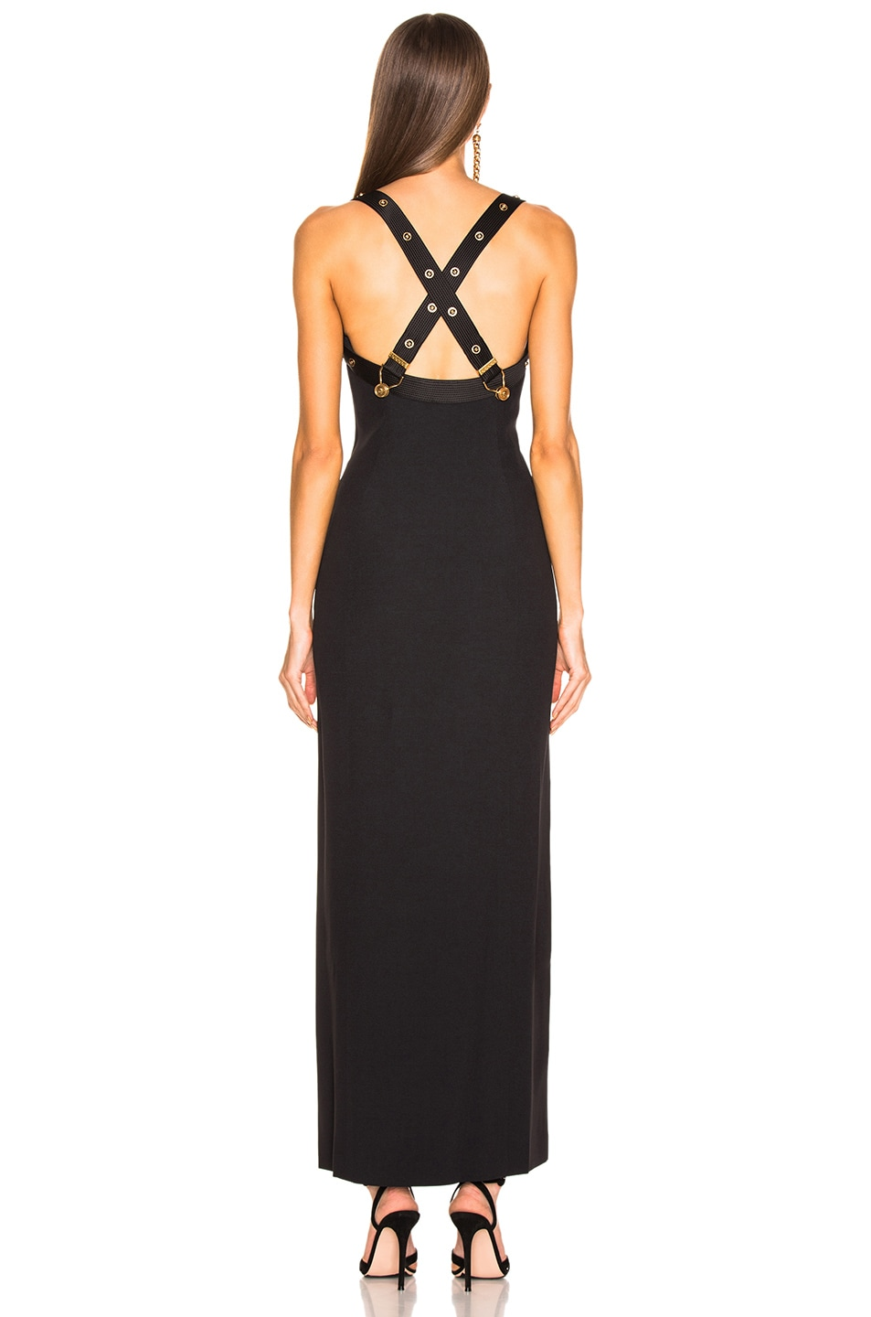 Image 3 of VERSACE Crossback Bustier Gown in Black