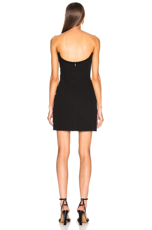 Image 4 of VERSACE Logo Strapless Dress in Black