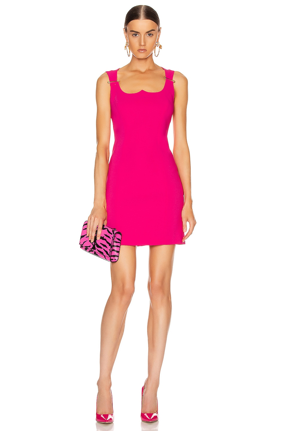 Image 1 of VERSACE Mini Dress in Fuchsia